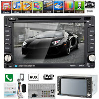 """Double 2Din 6.2"""" Bluetooth Touch Car DVD CD Radio Player USB/SD/TV FM/AM iPod"""