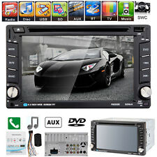 "Double 2Din 6.2"" Bluetooth Touch Car DVD CD Radio Player USB/SD/TV FM/AM iPod"