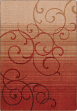"""2x8 Milliken Whispering Red Casual Scrolls Area Rug - Approx 2'1""""x7'8"""""""