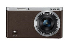 Samsung SMART CAMERA NX Mini Body with 9mm Lens Brown /20.5MP,W-iFi,NFC NEW