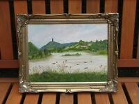 Original Irish oil painting on canvas in gilt frame - Irish art 49 x 39 cm