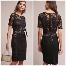 New Byron Lars Carissima Sheath Dress Black Lace Column Size 8
