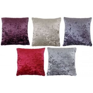 Crushed velvet cushions various colours and sizes