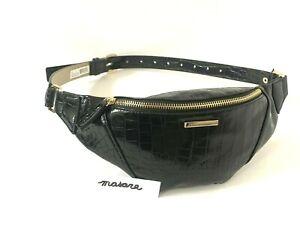 Vince Camuto Belt Bag/Fanny Pack Black/Gold MSRP $58