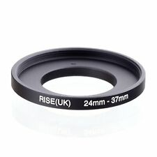 RISE(UK) 24mm-37mm 24-37 mm 24 to 37 Step Up Ring Filter Adapter black