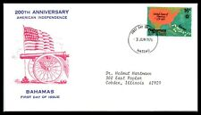 1976 BAHAMAS FDC Cover - 200th Anniversary American Independence L5