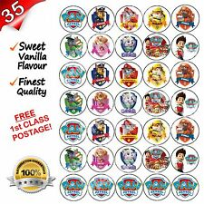 Paw Patrulla Cupcake Fairy Cake Toppers X 35 Calidad Comestibles Dulce Sabor Vainilla