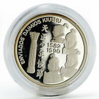Portugal 200 escudos Daimios of Omura ship proof silver coin 1993