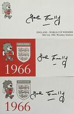 THREE ENGLAND 1966 WORLD CUP SIGNED CARDS JOHN CONNELLY - DECEASED - BARGAIN