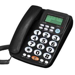 Indoor Landline Telephone Corded Wired Big Button Telephone Speakerphone