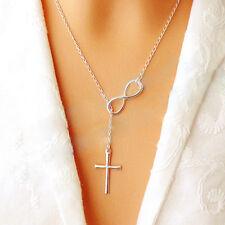 Women Jewelry Silver Chain Choker Chunky Statement Bib Necklace Charm Pendant
