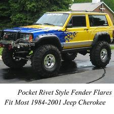 6Pcs 1984-2001 Jeep Cherokee XJ Fender Flares Pocket Rivet Style ABS Wheel Cover