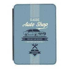 Azul vintage Auto Taller coche Kindle Paperwhite Touch Cuero Pu Flip Funda Protectora