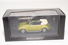 . MINICHAMPS VW VOLKSWAGEN 1303 BEETLE KAFER 1972-80 SATURN YELLOW MINT BOXED