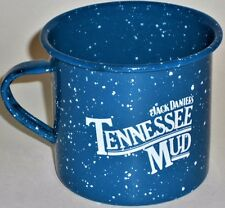 Jack Daniels Tennessee Mud Cup Enamelware Blue Old Style Drink Camping Tin Mug