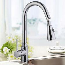 """16"""" Kitchen Sink Faucet Chrome Swivel Pull-Out Pull Down Spray Spout Hot New HS"""