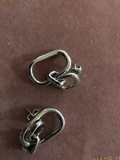 Womans Silver Dual Loop Earrings