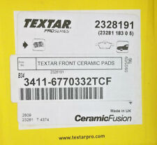 Front Disc Brake Pad Set - Textar Ceramic 34 11 6 770 332