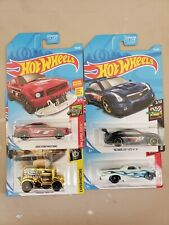 2019 HOT WHEELS KROGER EXCLUSIVE ALL 4 , GOLD TOASTER, CADILLAC, MUSTANG, CAMINO