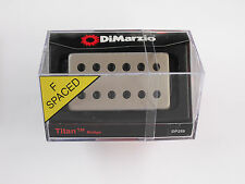 DiMarzio F-spaced Titan Bridge W/Satin Nickel Cover & Black Poles DP 259