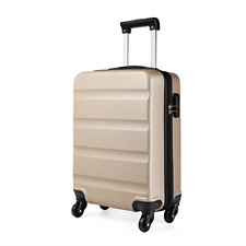 Kono Cabin Luggage Hard Shell ABS Carry-on Suitcase with 4 Spinner Wheels and