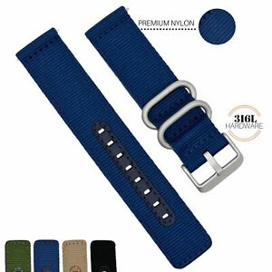18MM 20MM 22MM Nylon Watch Band Quick Release Military Universal Fit and Seiko 5