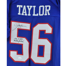 NFL New York Giants Lawrence Taylor #56 Autographed Signed Jersey Blue XL
