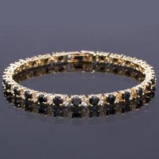 Fashion Jewelry Round Cut Black Onyx Tennis Statement Fashion Bracelet