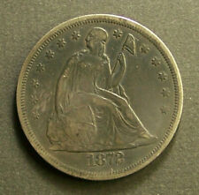 1872 SEATED LIBERTY SILVER DOLLAR XF