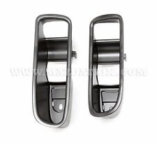 1993-95 Mazda RX-7 Aluminum Black Door Handle Cup Trim (Left and Right)