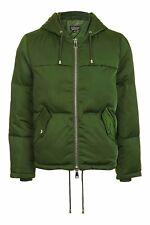 BNWT Topshop green Short Hooded Puffer Jacket - UK 10