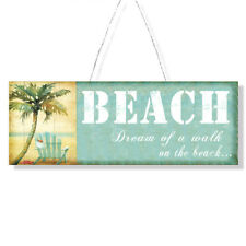 Tin Retro ~ Beach ~ SIGN ~ Plaque ~  Wall Art ~ Dream Of A Walk On The Beach