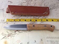 Wood Bear Knives/Blackburn Knife/01 steel/stabelized maple scales/leather