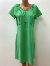 TANTE BETSY Gr.XL Kleid Jerseykleid Grün Weiss Spitze Midi Wadenlange Stretch
