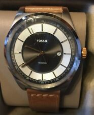 Fossil Men s Mathis FS5421 Silver Leather Quartz Fashion Watch 1dd3f12a49