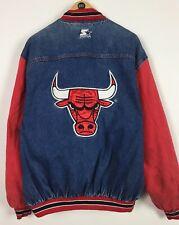 Mens Starter Denim Jacket / Large / Chicago Bulls / NBA / Classic / Sports