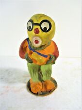 """ANTIQUE HALLOWEEN UNCOMMON PAPER MACHE/COMPO """"GHOUL"""" FIGURE CANDY CONTAINER"""