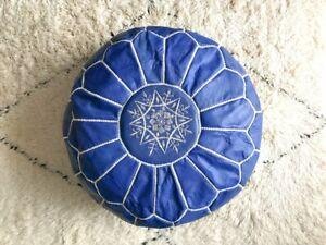 Original Moroccan Pouf - Handmade Genuine Leather - Gift Ottoman Pouf