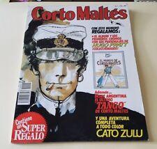 HUGO PRATT : CORTO MALTES nr. 1 : CATO ZULU ( in spagnolo ) + 8 figurine (RARO)