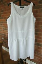 Armani Jeans white linen sleeveless dress, size 12 -14, excellent condition