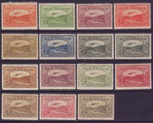 New Guinea 1939 SC C46-C59 MH Set Air Mail