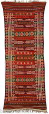 222x85 cm antik orient Nomaden beloch kelim Afghan bauern kilim Rarität No-389