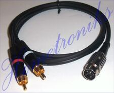 AUDIOPHILE PRO 4 PIN DIN TO 2x PHONO (RCA) PLUGS CABLE FOR QUAD EQUIPMENT - 3M