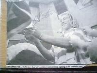 Original Hand Signed Press Cutting- Soccer Stars'' HENRIK LARSSON ''