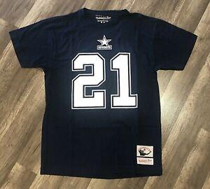 Dallas Cowboys Deion Sanders #21 Mitchell & Ness Retired Number Shirt Medium