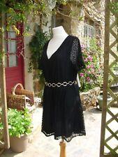 a18e6511855ba5 Robe tunique noire en polyamide pour femme | Achetez sur eBay