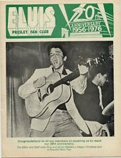 Elvis Presley Fan Club Magazine 20th Anniversary 1976
