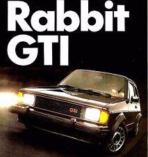 1983 VOLKSWAGEN RABBIT GTI BROCHURE -VW RABBIT GTI-VOLKSWAGEN RABBIT GTI
