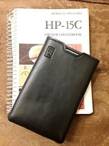 HP-15C Calculator with Manual and Soft Case