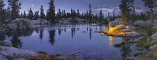 Stephen Lyman MOONFIRE 16x42 S/N Paper Print Sierra Nevada Mountains Campfire